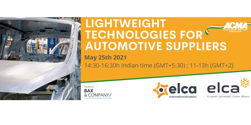Lightweight technologies for automotive suppliers – Webinar with ACMA